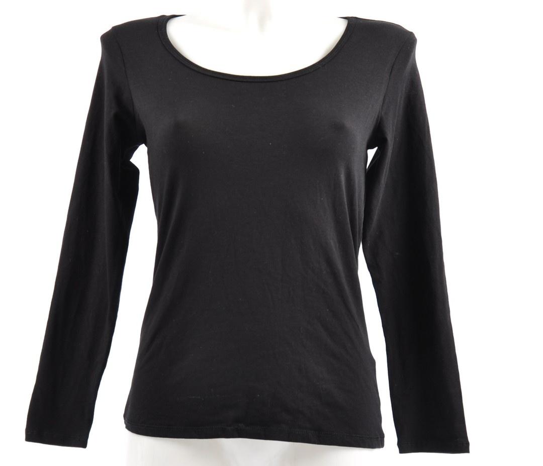 Dámské tričko s dlouhým rukávem, černé