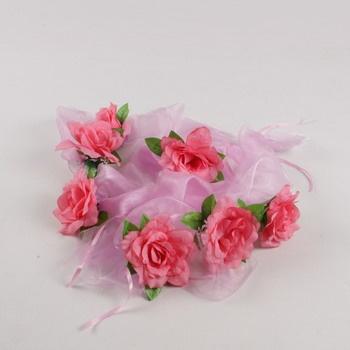 Dekorativní růžičky svatební dekorace 7 ks