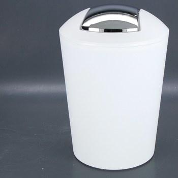 Odpadkový koš Kela bílo/stříbrný