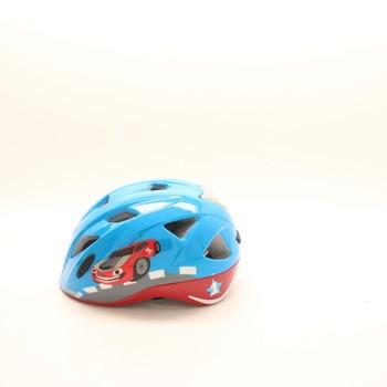 Dětská přilba A9710 modročervená vel. 45-49
