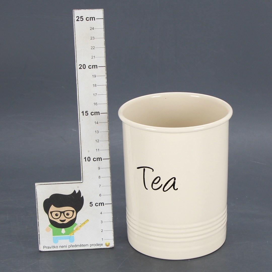 Kovový hrneček EHC Tea krémová barva