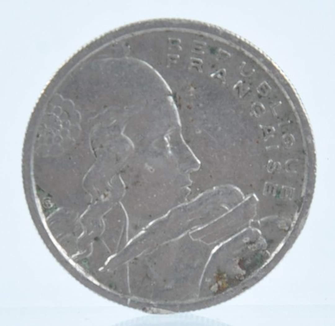Mince 100 francs r. 1955 a bronzová r. 1800