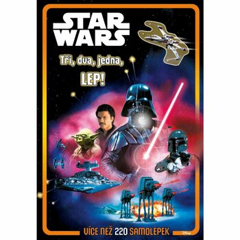 Dětská kniha Star Wars Tři, dva, jedna, lep