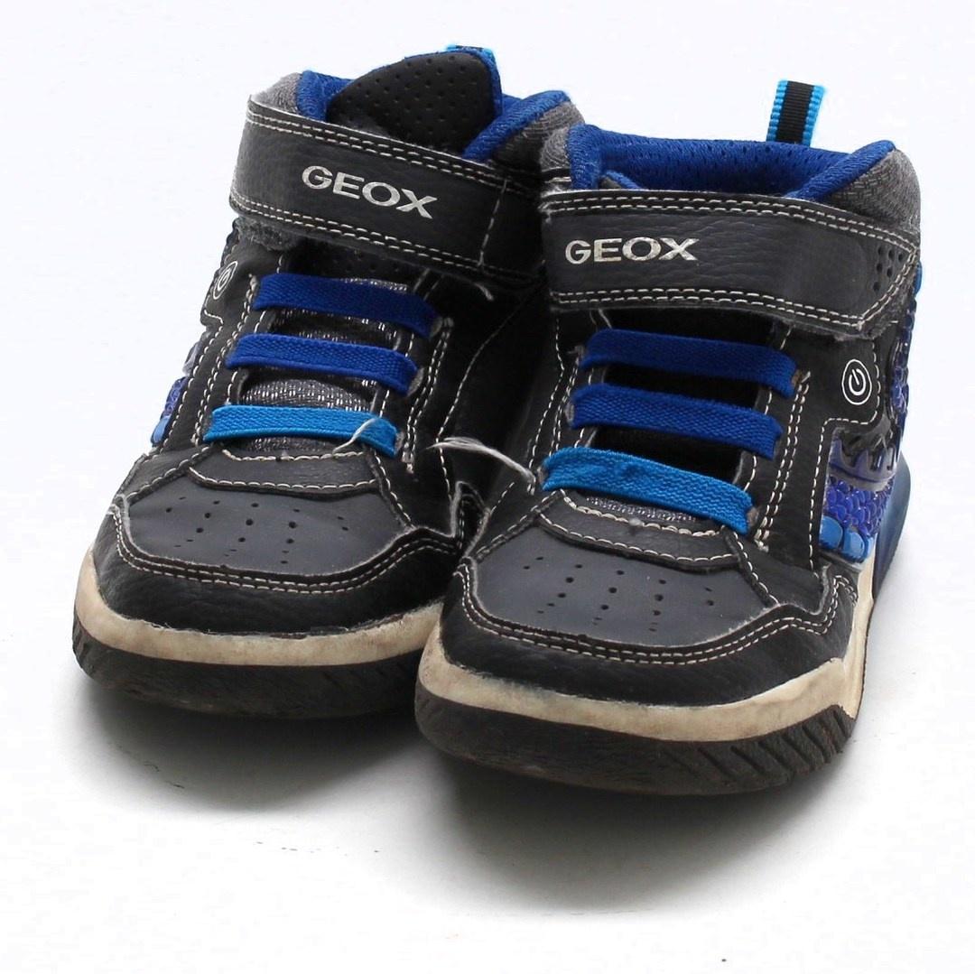 Vysoké tenisky Geox J Inek Boy černé