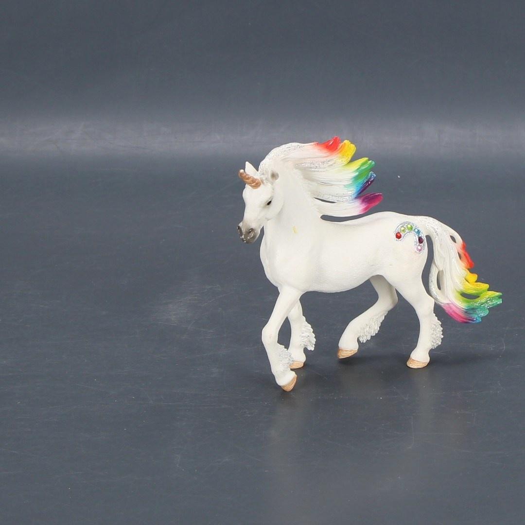 Figurka koně 2 ks s barevnou hřívou