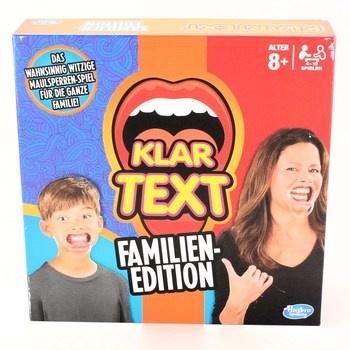 Společenská hra Hasbro Klar Text