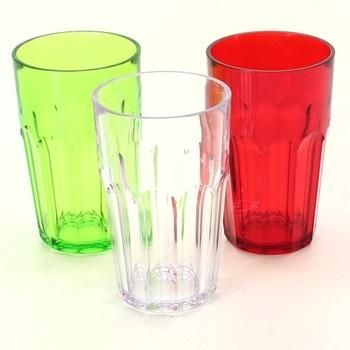 Plastové sklenice Guzzini různé barvy 3 ks