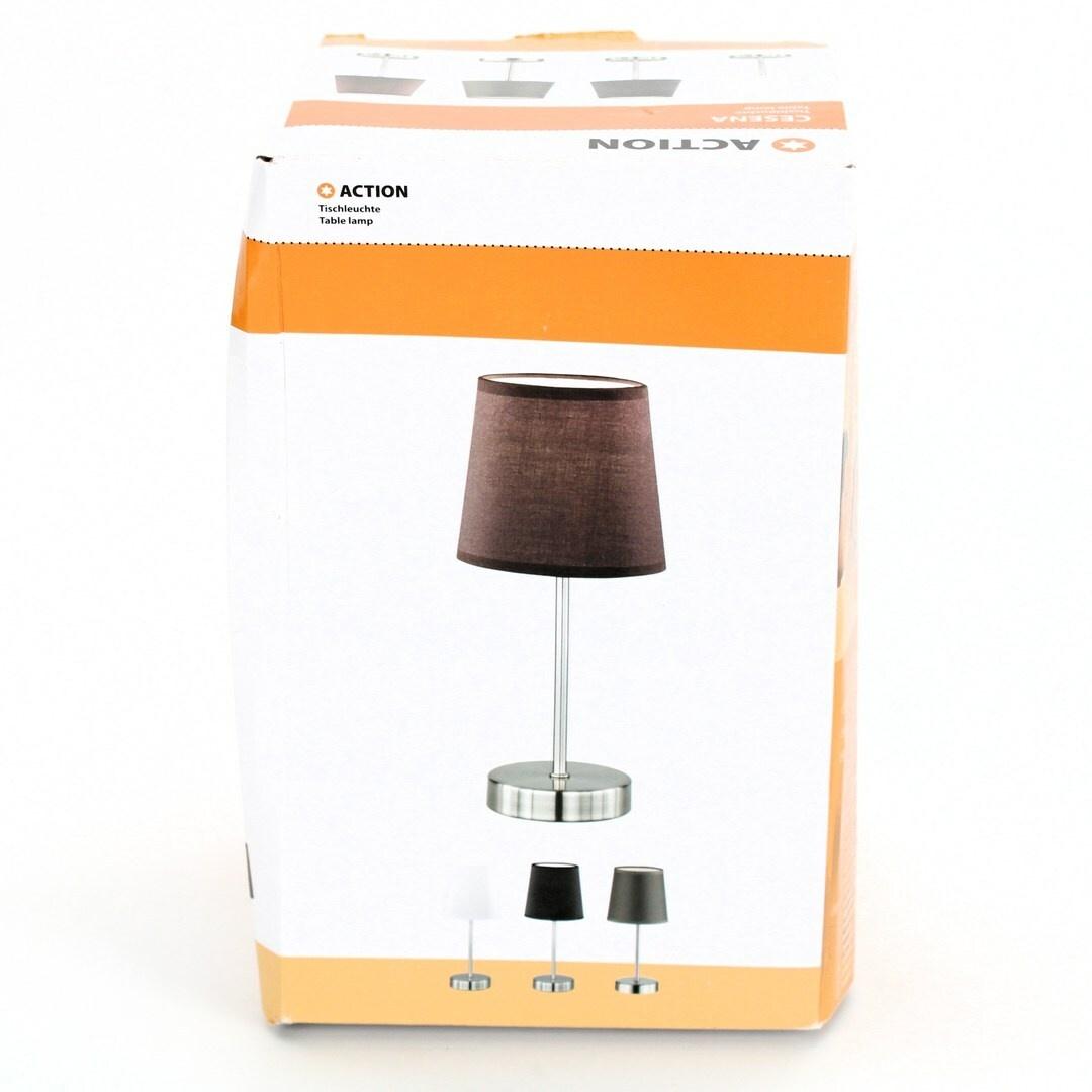 Stolní lampa Wofi Action Cesena hnědá