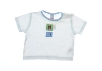 Dětské tričko Next bílé s žirafou