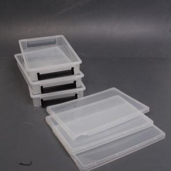 Plastové boxy s víkem Iris 36,5 x 25 cm