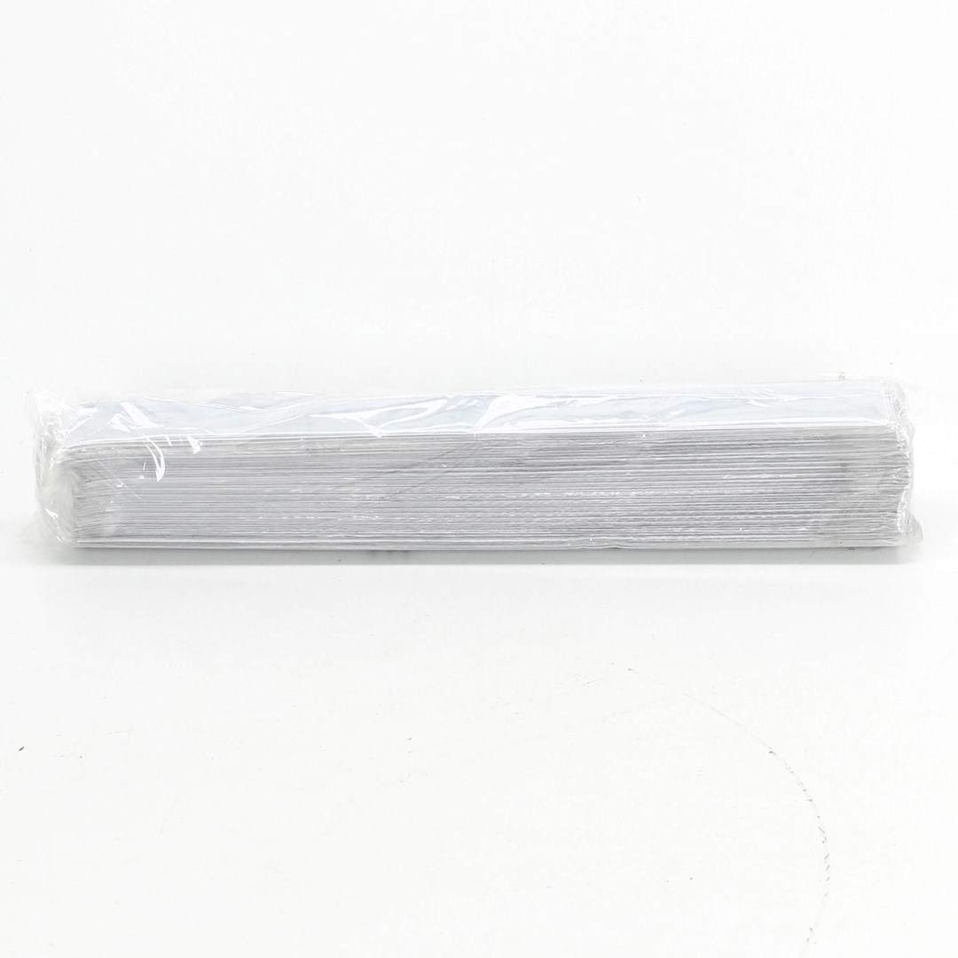Reflexní upínací náramek bílý