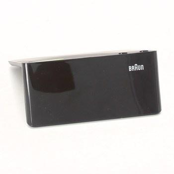 Digitální černý radiobudík značky Braun