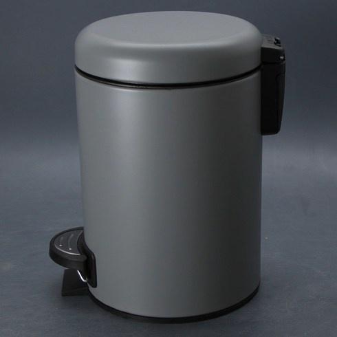 Nášlapný odpadkový koš Wenko šedý