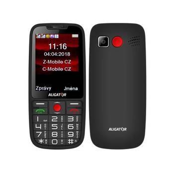 Mobil pro seniory Aligator A890 černý