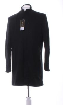 Pánský kabát Ombre černý delší XL