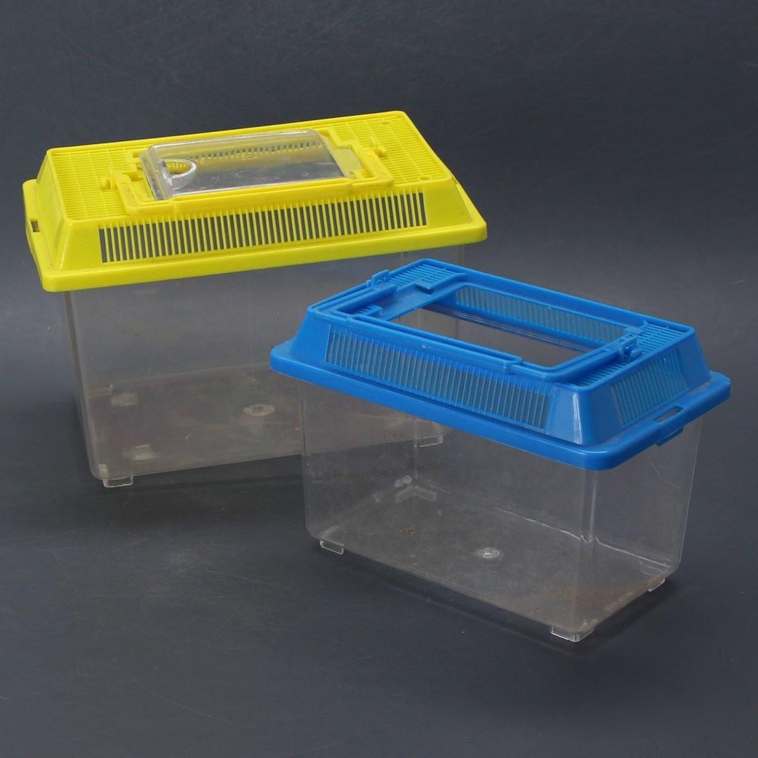 Přepravky na hlodavce modrá a žlutá