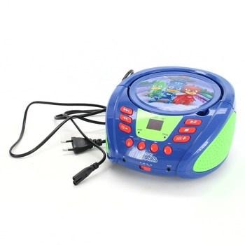 CD přehrávač Lexibook PJ Masks modrý