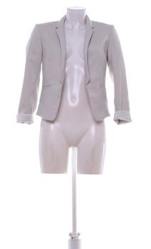Dámské sako světle šedé H&M