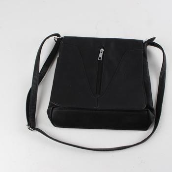 7b218c144e78 Dámská kabelka černá na rameno se zipem