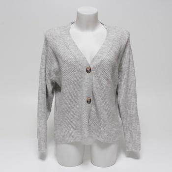 Dámský svetr Only rozpínací šedivý vel. XL
