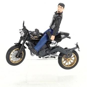 Figurka Bruder Scrambler Ducati s helmou