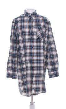 Pánská košile COUNTRY - CLUB hnědá/modrá