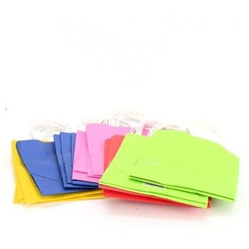 Papírové taštičky 20 kusů 5 barev