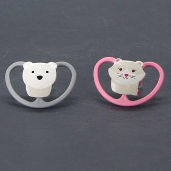 Dudlíky Nuk kočka a medvídek
