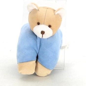 Plyšový medvídek hnědo modrý
