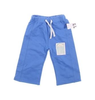 Kojenecké kalhoty Okay modré do pasu