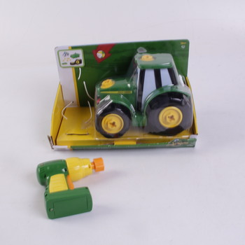Traktor s vrtačkou Tomy John Deere
