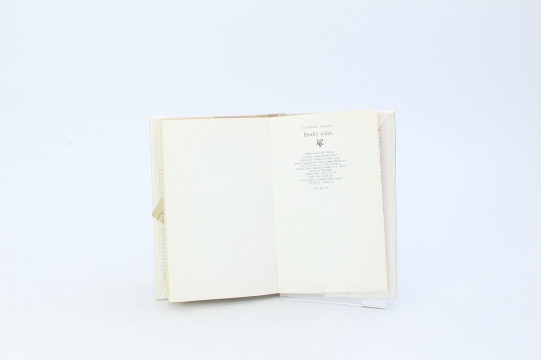 Kniha Zdeněk Mareš: Horký týden