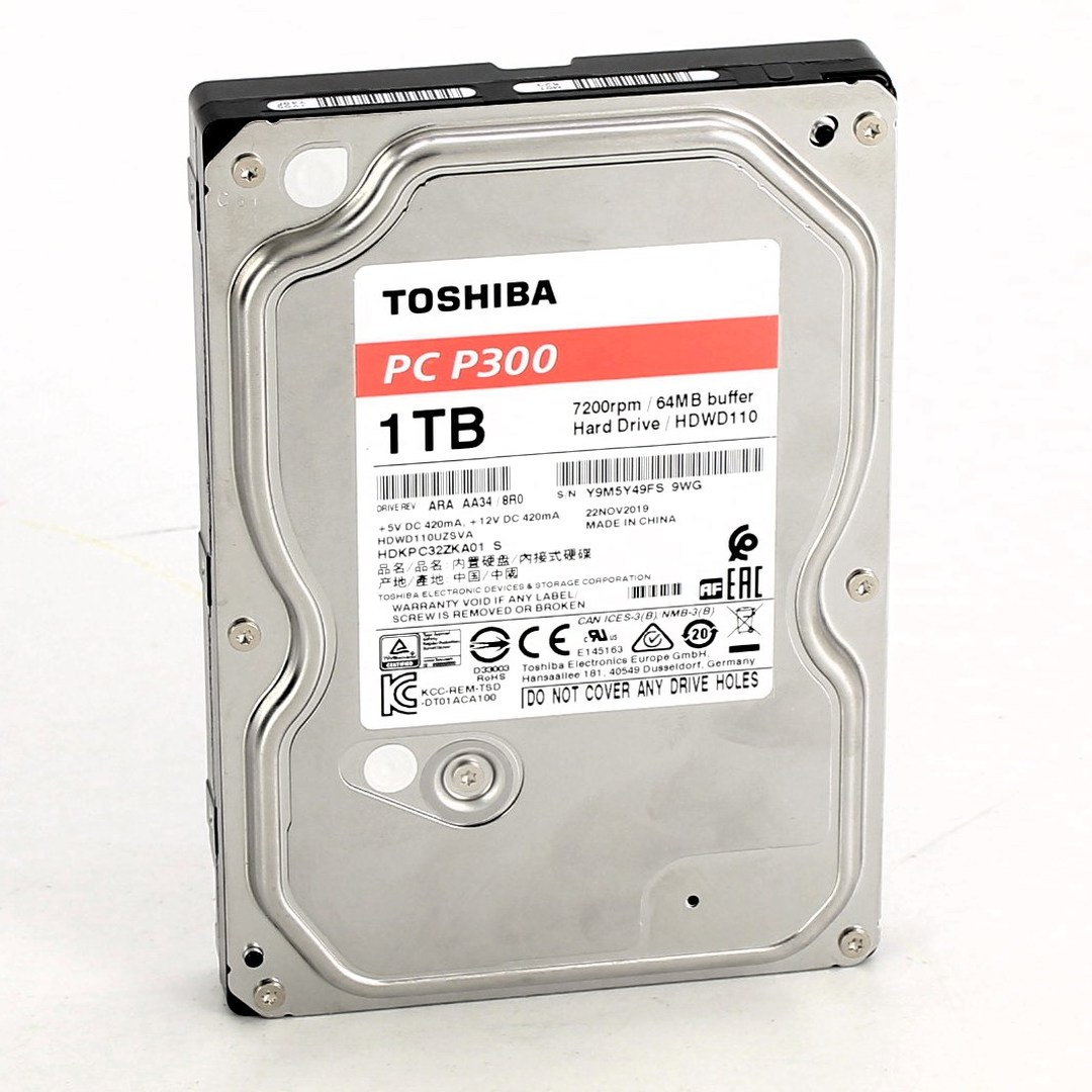 Interní pevný disk Toshiba PC P300 1TB
