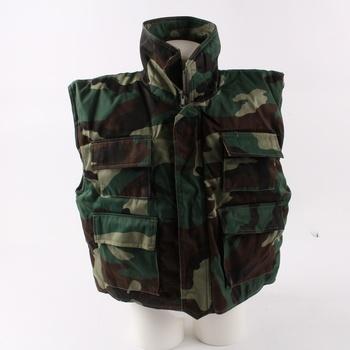 Dětská vesta maskáčová zelená a1ab0d2466