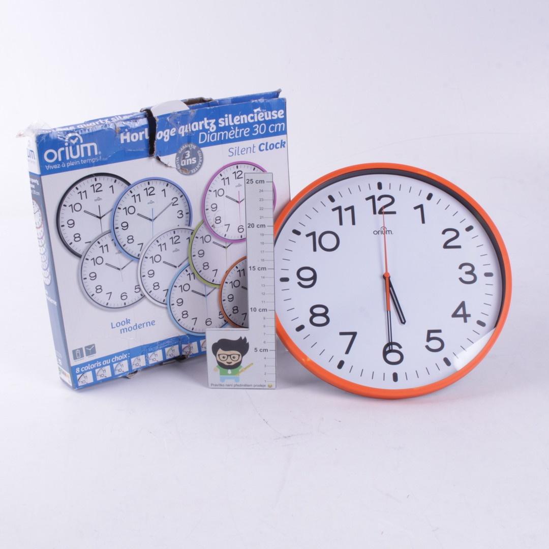 Nástěnné hodiny Orium oranžové