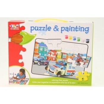 Dětská puzzle vybarvovací město