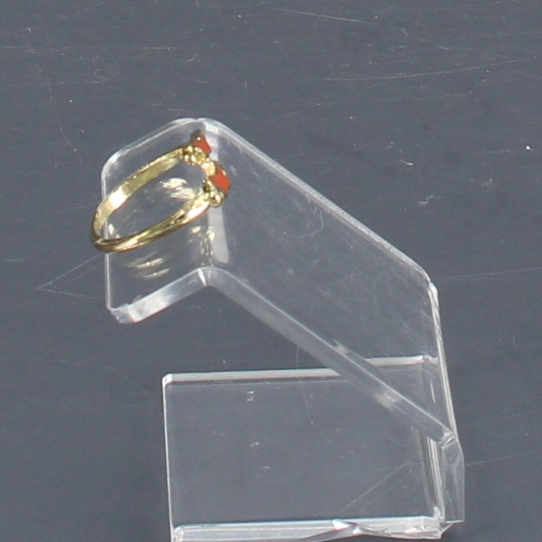 Dámský prsten Bubbles MBP006 oranžové kníry