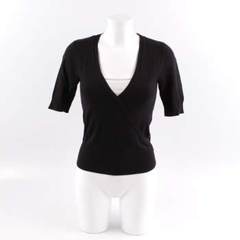 Dámský svetr F F černý s krátkým rukávem 9012648e2c