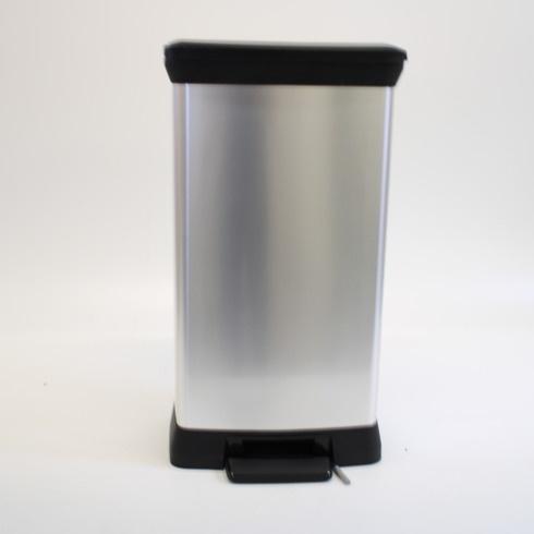Odpadkový koš výklopný šedý