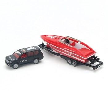 Auto s motorovým člunem Siku 2543