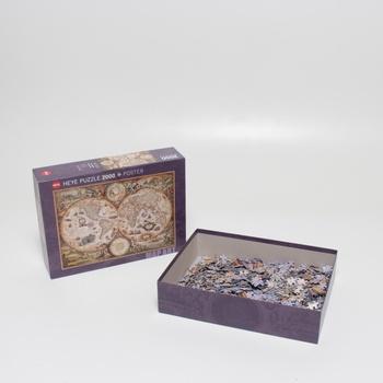 Puzzle mapa světa Vintage Heye 29666