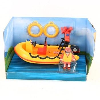 Záchranný člun s figurkou Simba Požárník Sam