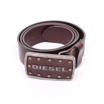Pánský kožený pásek Diesel hnědý