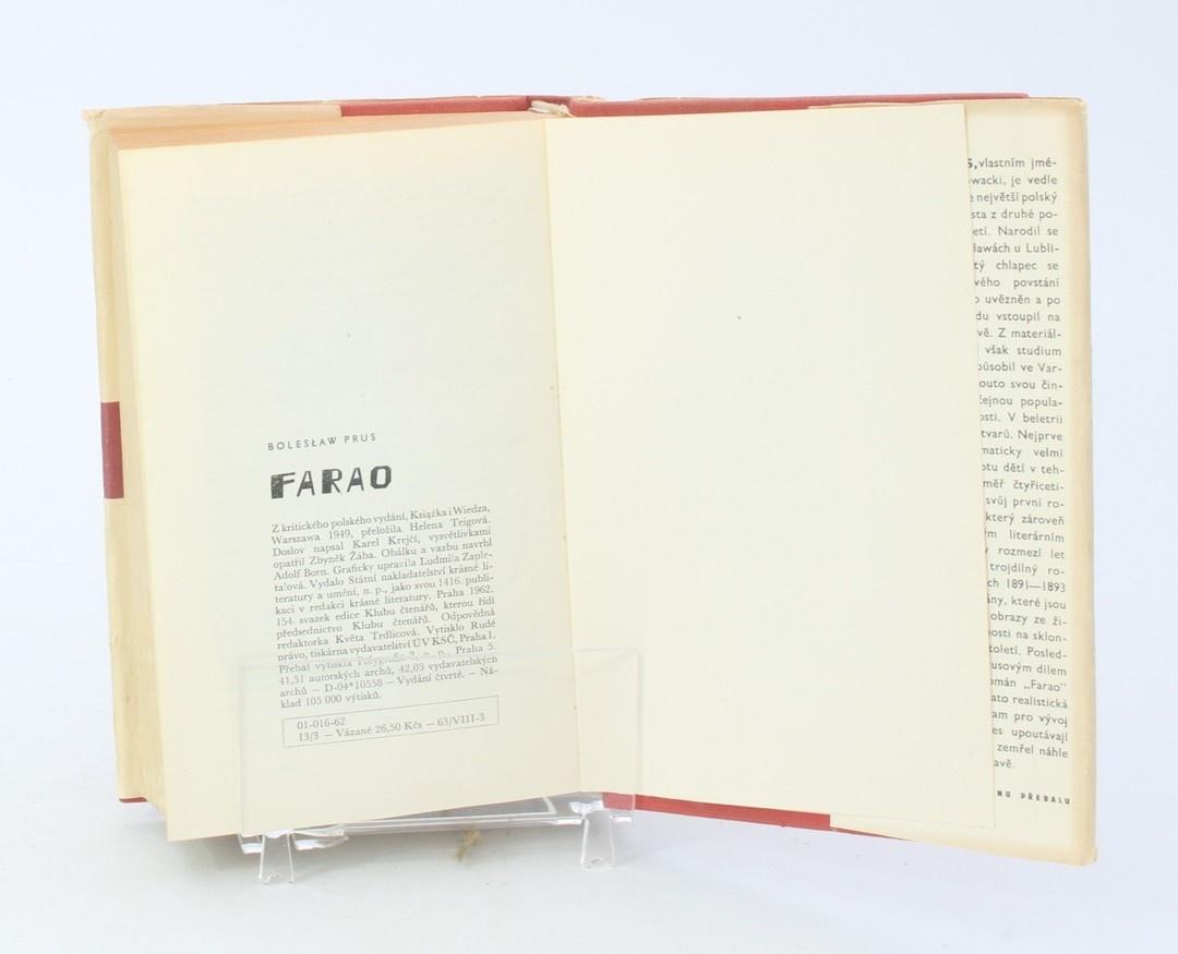 Kniha Bolesław Prus: Farao