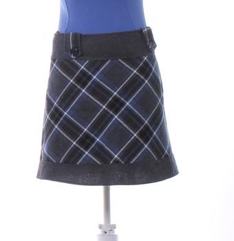 Dámská sukně Orsay károvaná černo-modrá