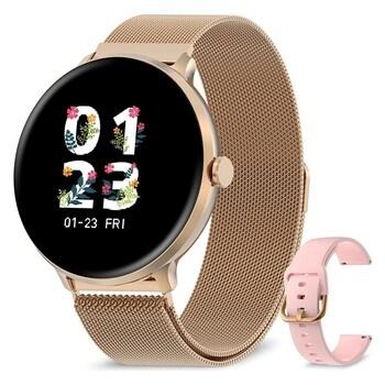 Chytré hodinky Bebinca zlaté barvy