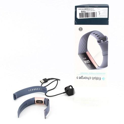 Fitness náramek Fitbit Charge 3 šedorůžový