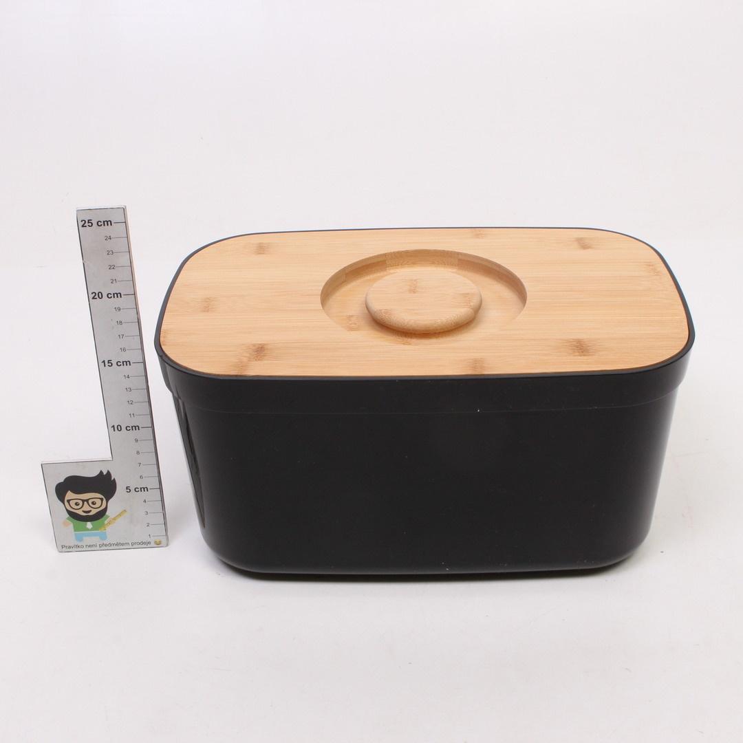 Box na chleba plastový s bambosovým víkem