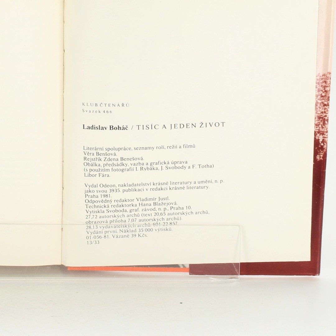 Biografie L. Boháč: Tisíc a jeden život