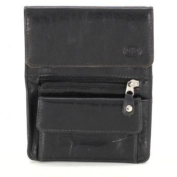 Pánská koženková peněženka černá